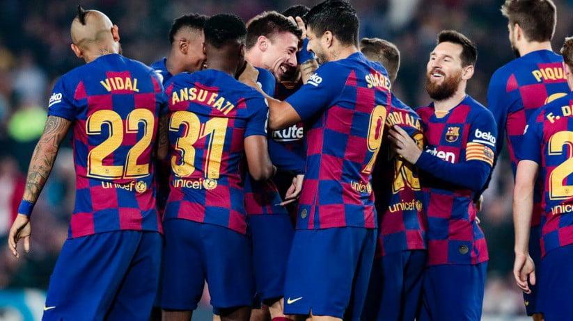 بارسلونا - اقدام بشردوستانه بازیکنان بارسلونا