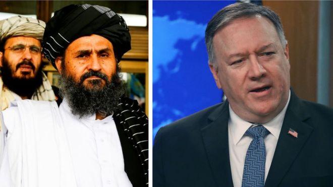 مایک پومپیو ملا برادر. - پیام هشدار آمیز وزیر امور خارجه امریکا برای طالبان