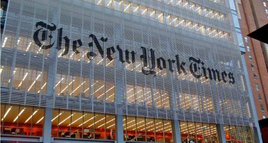 نیویارک تایمز 550x295 - پیام تواب غورزنگ در پیوند به مقاله نشر شده سراج الدین حقانی در نیویارک تایمز