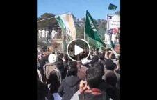 ویدیو آتش بیرق هند مجیب الرحمان انصاری 226x145 - ویدیو/ به آتش کشیدن بیرق هند توسط هواداران مجیب الرحمان انصاری