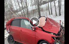 ویدیو عاقبت سبقت سرک یخ 226x145 - ویدیو/ عاقبت سبقت غیر مجاز در سرک یخ زده