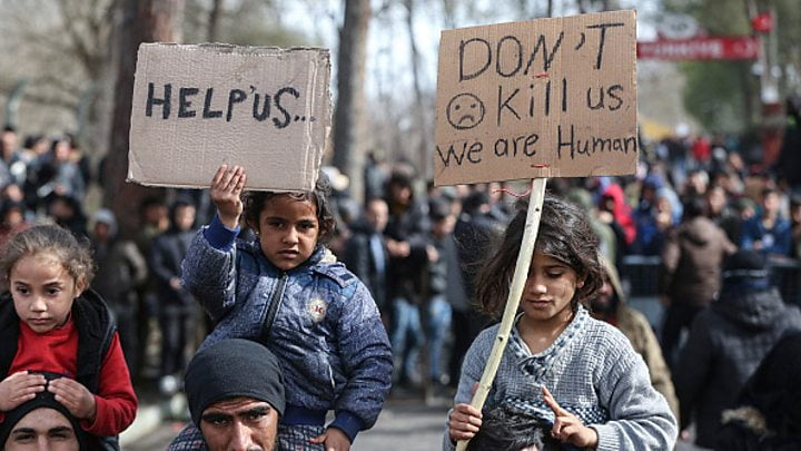 پناهجو - اوضاع وخیم پناهجویان در سرحدات مشترک ترکیه و یونان