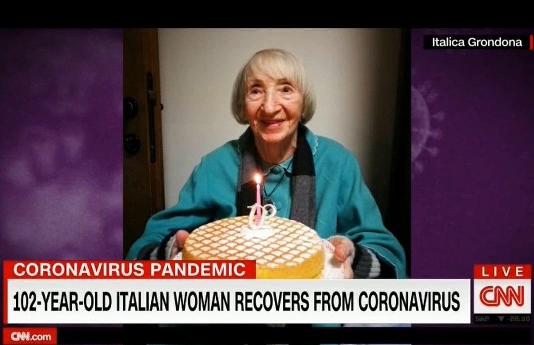 پیرزن کرونا - پیرزن ۱۰۲ ساله ایتالیایی کرونا را شکست داد!
