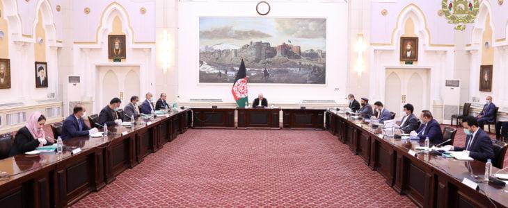 اشرف غنی شورای عالی اقتصادی - برگزاری جلسه شورای عالی اقتصادی در قصر چهارچنار ارگ