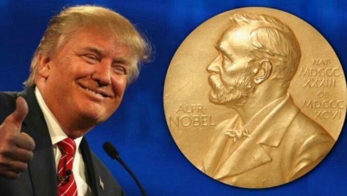 ترمپ نوبل - تحركات نمايشی دولتمردان امريكايی برای نامزدی ترمپ در اخذ جايزه صلح نوبل