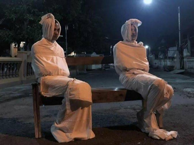 جنازه کرونا - تصویر/ روشی عجیب برای وادار کردن مردم به رعایت قرنطینه