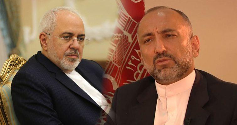 اتمر و ظریف - گفتگوی تلفونی حنیف اتمر و جواد ظریف درباره حادثه غرق شدن باشنده گان افغان در سرحد ایران