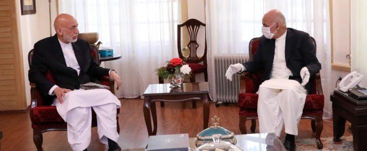اشرف غنی حامد کرزی - دیدار رییس جمهور غنی با جلالتمآب حامد کرزی و داکتر عبدالله عبدالله