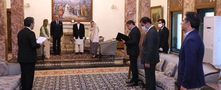 اشرف غنی روبرتو کانتون - دیدار رییس جمهور غنی با سفیر ایتالیا مقیم در کابل