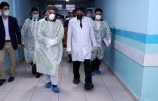 اشرف غنی شفاخانه 226x145 - بازدید رییس جمهور غنی از شفاخانه ملی صد بستر دشت برچی