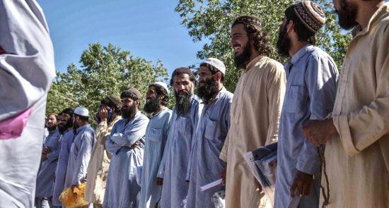 زندانیان طالبان 6 550x295 - انتقاد طالبان از سنگ اندازی ایالات متحده در روند آزادی زندانیان این گروه