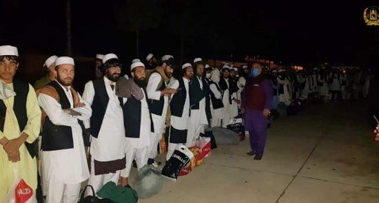 طالبان از زندان پلچرخی 6 550x295 - واکنش خبرنگاران بدون سرحد به رهایی زندانیان طالبان