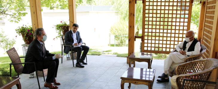 اشرف غنی پییر مایودین - دیدار رییس جمهور غنی با سفیر اتحادیۀ اروپا در افغانستان