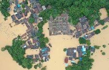 سیلاب چین 1 226x145 - تصاویر/ جاری شدن سیلاب های مرگبار در جنوب چین