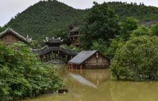 سیلاب چین 7 1 226x145 - تصاویر/ جاری شدن سیلاب ها در چین