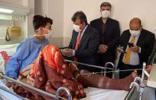 عبدالغفور لیوال 7 226x145 - تصاویر/ عیادت سفیر افغانستان در ایران از زخمیان آتش سوزی موتر حامل مهاجرین افغان