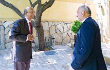 محمد حنیف اتمر وینی کمار 226x145 - دیدار سرپرست وزارت امور خارجه با سفیر هند مقیم کابل