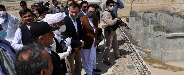 اشرف غنی بند کمال خان - تصویر/ بازدید رییس جمهور از پیشرفت کار احداث فاز سوم بند کمال خان