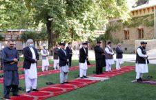 اشرف غنی نماز جنازه 226x145 - تصویر/ مراسم نماز جنازه غایبانه مرحوم محمد یوسف غضنفر در ارگ
