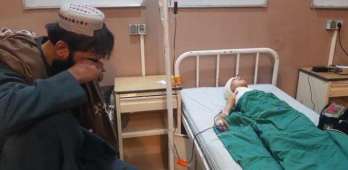 زخمی لوگر - تصویر/ جنایتی دیگر از طالبان در لوگر