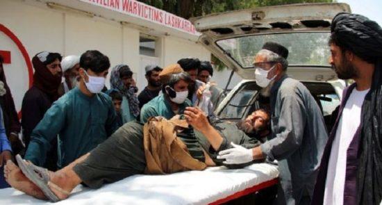 زخمی 550x295 - انفجار یک موتر بمگذاری شده طالبان در هرات