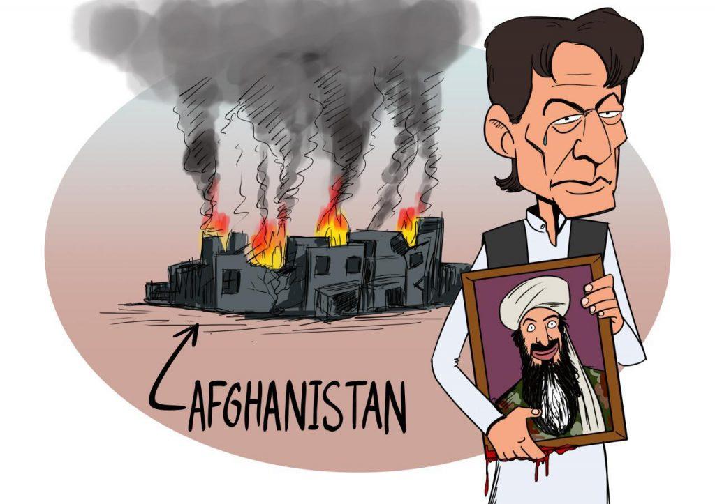 عمران خان بن لادن 1024x723 - کاریکاتور/ در فراق یار!