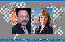 محمد حنیف اتمر آلیسون بلیک 226x145 - گفتگوی تلیفونی سرپرست وزارت امور خارجه با سفیر بریتانیا در افغانستان