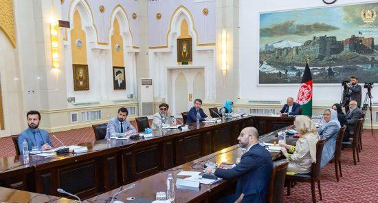 محمد حنیف اتمر 550x295 - اشتراک نماینده گان 20 کشور در کنفرانس منطقوی تقویت اجماع برای صلح افغانستان