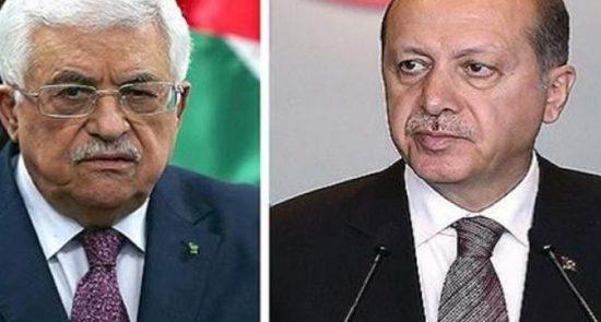 محمود عباس اردوغان 550x295 - گفتگوی رییس جمهور ترکیه با رییس تشکیلات خودگران فلسطین