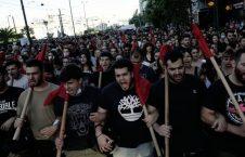 مظاهره یونان 4 226x145 - تصاویر/ مظاهره هزاران نفری در یونان