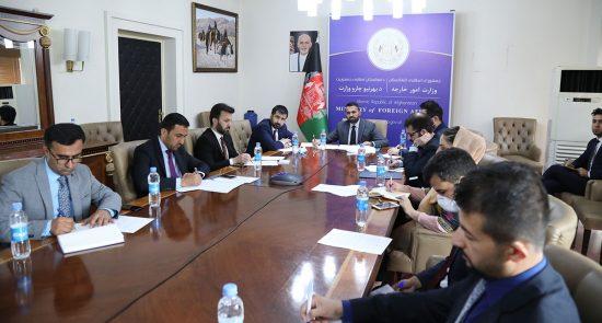 نشست سه جانبه میروس ناب 550x295 - برگزاری نشست سه جانبه معینان وزرای امور خارجه افغانستان، چین و پاکستان