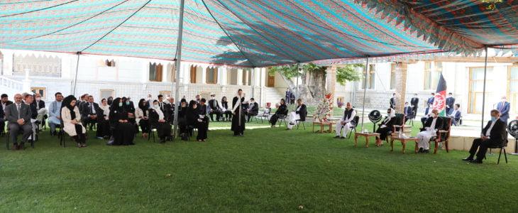 یادبود محمد یوسف غضنفر - برگزاری مراسم یادبود مرحوم محمد یوسف غضنفر در ارگ ریاست جمهوری