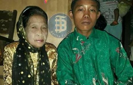 ازدواج عجیب یک نوجوان ۱۶ ساله با پیرزن 71 ساله + تصویر