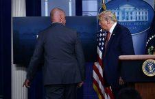 ترمپ کاخ سفید 4 226x145 - تصاویر/ فرار دونالد ترمپ از کاخ سفید