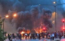 سویدن آتش زدن قرآن 2 226x145 - تصاویر/ اعتراض باشنده گان سویدن به آتش زدن قرآن