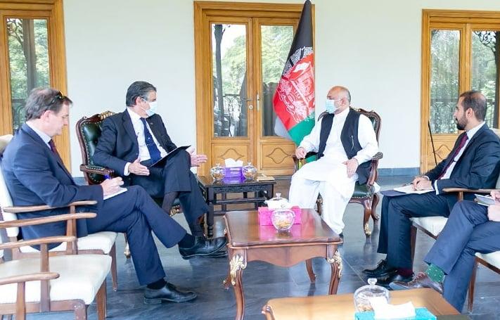 جزییات دیدار سرپرست وزارت امور خارجه با نماینده ارشد ملکی ناتو در افغانستان