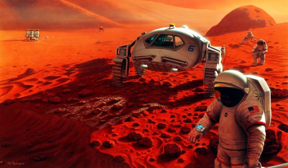 محل زنده گی بیگانهگان فضایی در مریخ کشف شد! + تصاویر