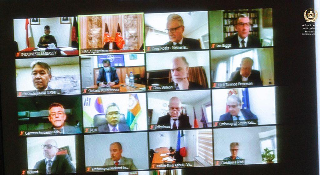 وزارت خارجه نشست 1024x559 - افزایش حمایت های جهانی از روند صلح افغانستان و برگزاری لویه جرگه