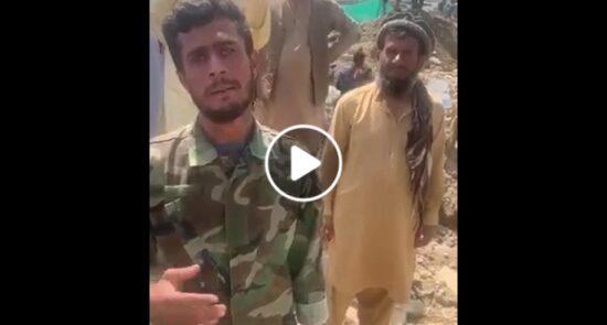 ویدیو مرگ خانواده اردوی ملی سیلاب 550x295 - ویدیو/ مرگ تلخ تمام اعضای خانواده افسر میدان بگرام در سیلاب