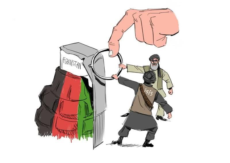 حکمتیار تروریست ها - کاریکاتور/ ایتلاف حکمتیار با تروریست ها