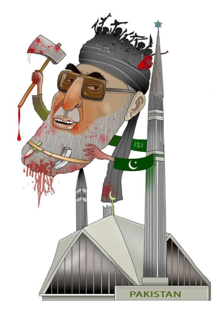 حکمتیار 717x1024 - کاریکاتور/ عامل راه اندازی جنگ قومی مذهبی در افغانستان