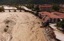 سیلاب یونان 1 226x145 - تصاویر/ جاری شدن سیلاب های مرگبار در یونان