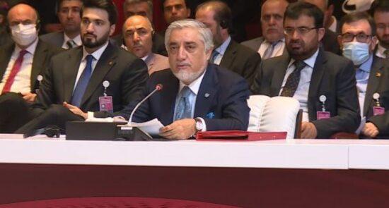 عبدالله عبدالله  550x295 - مشروح سخنان رییس شورای عالی مصالحه ملی در مراسم افتتاحیه مذاکرات صلح با طالبان