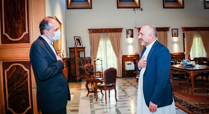 محمد حنیف اتمر بهادر امینیان - دیدار سرپرست وزارت امور خارجه با سفیر ایران در کابل