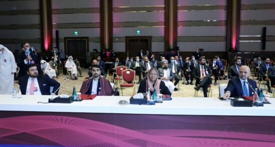 مذاکرات بین الافغانی قطر 7 550x295 - اشتراک هیئت حکومت افغانستان در نشستهای روسیه و ترکیه
