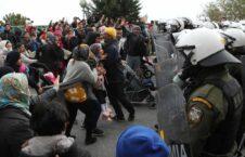 پناهجو یونان 226x145 - تداوم تنش ها در لسبوس یونان؛ پناهجویان معترض خواستار مساعدت اتحادیه اروپا شدند