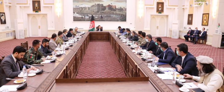 اشرف غنی نشست امنیتی - بررسی چگونه گی تامین امنیت کابل در نشست امنیتی تحت ریاست رئیس جمهور غنی