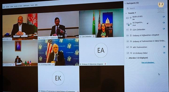 محمد حنیف اتمر نشست سهجانبه 2 - جزییات برگزاری نخستین نشست سهجانبه افغانستان-امریکا-ترکمنستان