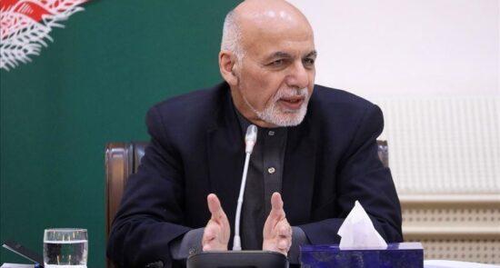 اشرف غنی 550x295 - توصیه رییس جمهور غنی به نمایندۀ سازمان ملل متحد درباره پروسه صلح افغانستان