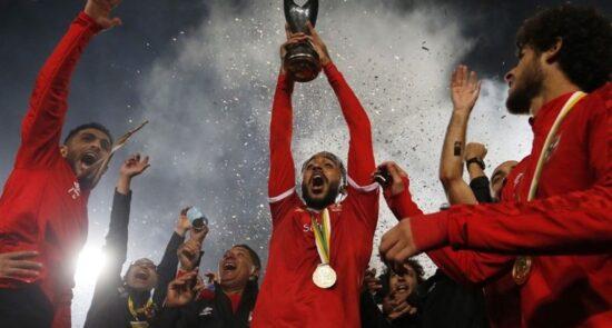 الاهلی مصر 550x295 - تیم فوتبال الاهلی مصر برای نهمین بار قهرمان قاره افریقا شد